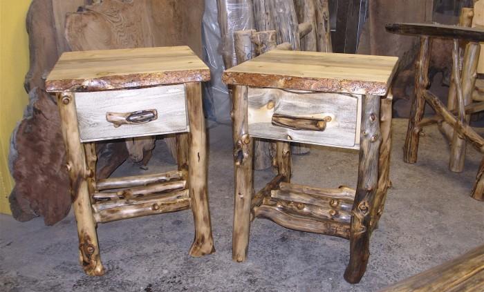 Beetle Kill Night Stand Aspen Log And Beetle Kill Pine Furniture