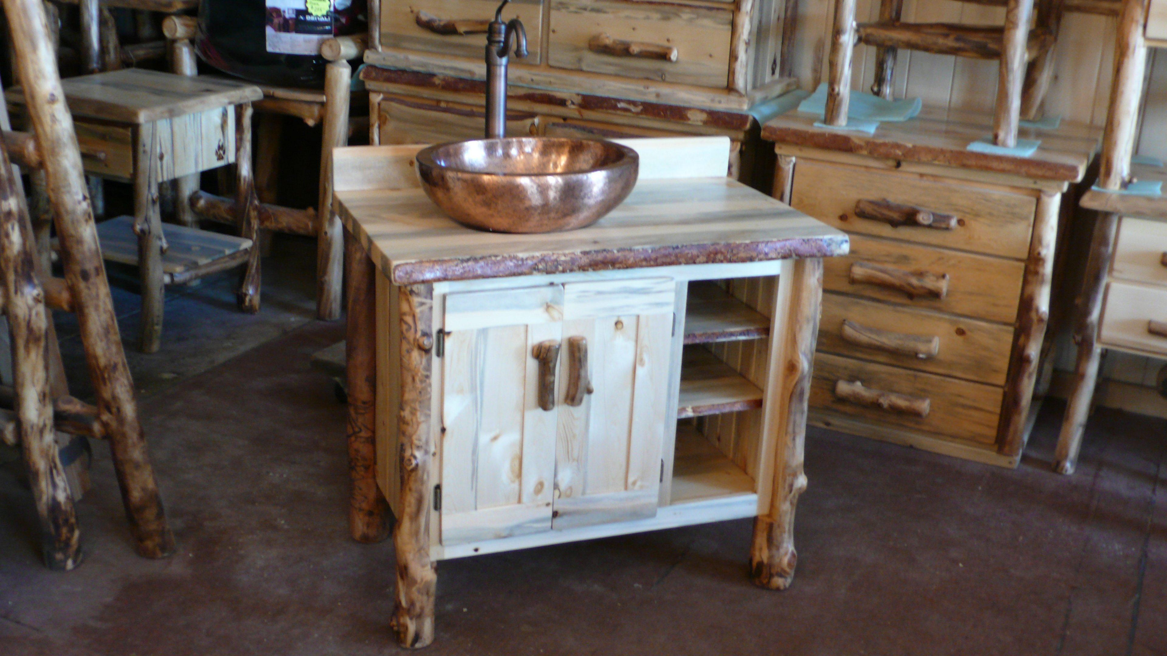Log bathroom vanity - Bathroom Vanities